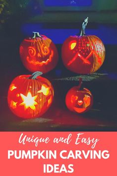 Check out these unique pumpkin carving ideas! Not only are they creative, but they are easy pumpkin carving ideas! They are great ideas for kids and adults alike. These are some of the best pumpkin carving ideas for Halloween. There are also pumpkin carving tips and tricks in this post! Make sure to check this out if you want pumpkin carving ideas that inspire you! Unique Pumpkin Carving Ideas, Pumpkin Carving Tips, Disney Pumpkin Carving, Pumpkin Ideas, Pumpkin Painting, Pumpkin Pumpkin, Pumpkin Cookies, Chip Cookies, Diy Halloween Costumes For Kids
