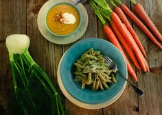Carrot Top Pesto with Whole Grain Penne - Rachael Ray's non profit organization, Yum-o! Roasted Squash Soup, Roasted Carrots, Carrot And Fennel Soup, Carrot Top, Pesto Pasta, Penne, Pasta Dishes, Food To Make, Meal Prep