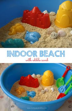 Indoor Beach {With Edible Sand} | Mama.Papa.Bubba.