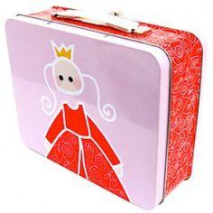 Große Lunchbox Prinzessin aus Metall mit Griff von Blafre