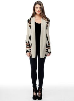 i want a tribal-printed cardigan like this