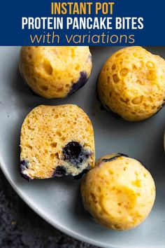 Instant Pot protein pancake bites are a fun alternative to pancakes that cook up in your Instant Pot! Works great for week day breakfasts, or for meal prep. Slow Cooker Freezer Meals, Crock Pot Freezer, Pea Protein Powder, Crockpot Recipes, Freezer Recipes, Pancake Bites, Protein Muffins, Lunch Meal Prep, Best Breakfast Recipes