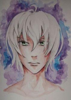 watercolor manga boy by   https://web.facebook.com/rysunki.nierealistyczne.dorkaart/