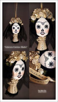 """Calavera Catrina Madre"" Ornament by du_buh_du_designs, via Flickr"