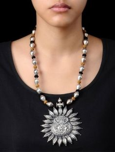 Lord Krishna Silver Necklace