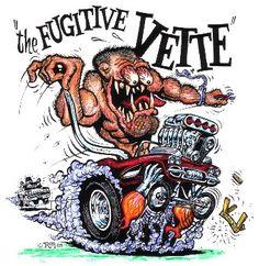 "Ed ""Big Daddy"" Roth Tribute Thread! Cartoon Rat, Cartoon Pics, Ed Roth Art, Monster Car, Monster Trucks, Cool Car Drawings, Rat Fink, Garage Art, Lowbrow Art"