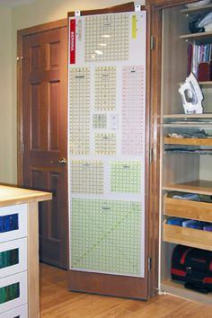 could use magnets on the inside of doors for storing the spellbinders dies and QK cookie cutter dies