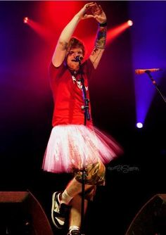 Ed Sheeran in a tutu, this is why we love him.
