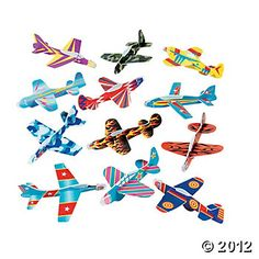 Airplane Party Favors- order from Oriental Trading