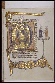 """Réseau des Bibliothèques de l'Université de Liège; Psautier de """"Lambert le Bègue"""" (ms. 431, f° 44)  Liège, XIIIe s."""