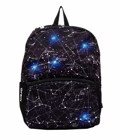 2681dca40bd Mojo backpack - Black and White Constellation with LED Lights White Backpack,  Star Chart,