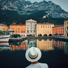 Riva del Garda... My fav time to explore an urban environment, before all human activities begin as every-single-day. #trentinolife w/ @visittrentino