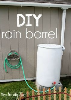 How to make your own rain barrel-- easy and inexpensive!