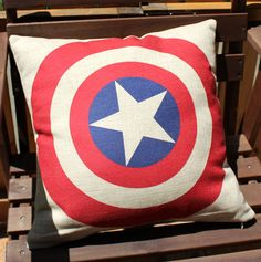Captain America Cushion CoverCotton Linen by Sharinghappiness, $14.99