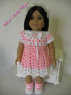 Crocheted doll clothes for 18 inch dolls by MimisDollyThings