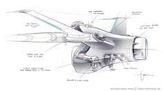 Final design drawing of the small Light Jet.