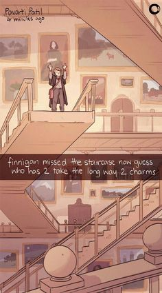 I think most people forget that not all the staircases in Hogwarts move. Harry Potter Comics, Harry Potter World, Arte Do Harry Potter, Yer A Wizard Harry, Harry Potter Jokes, Harry Potter Universal, Harry Potter Fandom, Harry Potter Anime, Harry Potter Charms