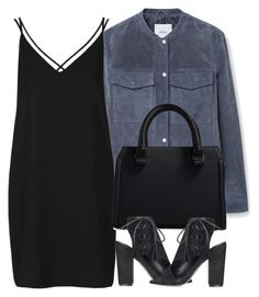 """""""Untitled #4096"""" by london-wanderlust ❤ liked on Polyvore featuring MANGO, Topshop and Victoria Beckham"""