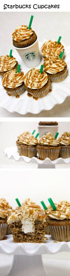 Starbucks Cupcakes @Felicia Davidsson Davidsson Rios can you make me these for my birthday? :) please!