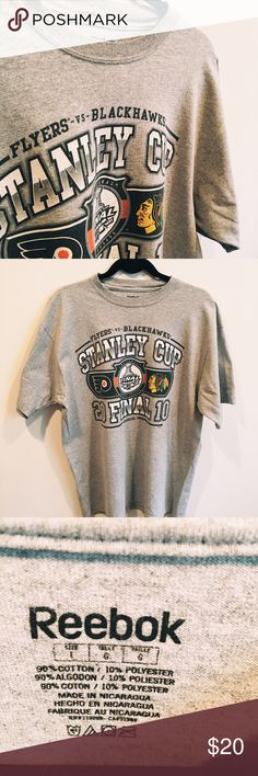 Stanley Cup 2010 T-shirt What a legendary year it was for the Chicago Blackhawks, and look how amazing this shirt is. The quality is great and it would be a nice collectors items to have . Reebok Shirts Tees - Short Sleeve