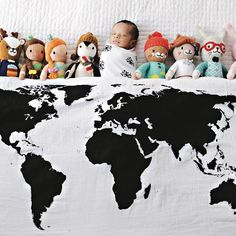 5 baby items first time moms love diapers moby wrap and babies organic cotton muslin swaddle blanket world map gumiabroncs Images