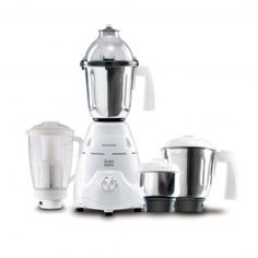 Morphy richards Mixer Grinder Icon Supereme 750W with Flexi Jar A powerful 750 watt motor makes the Morphy Richards Mixer Grinder Icon Supreme a perfect choice for your kitchen. It comes with 4 jars that include a grinding jar, a liquidizing jar, a flexi jar and a chutney jar. You can use it for grinding, whipping, grating, pureeing and even to extract fruit and vegetable juices! Its high-quality multi functional blades and stainless steel body give you hassle-free long-term usage.