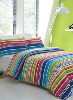 Make your bed stand out with this eye popping stripe design Mexico Bedding Set - bedroom - essentials - shop by brand  - For The Home