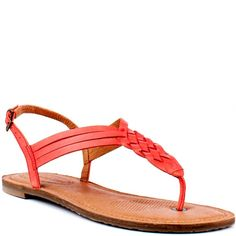 Corso Como leather sandals Super cute and comfy Corso Como braided detail sandals, originally purchased at Nordstrom. Real leather upper and sole. Red leather braided detail in the front, sling back style, very comfortable. Gently used and in great condition, comes with box. Shoes Sandals
