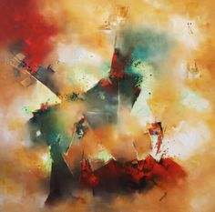 """Microscópico mundo sistante"" - Nicolas Federici - Técnica mixta - 100 x 100 cm www.esencialismo.com"