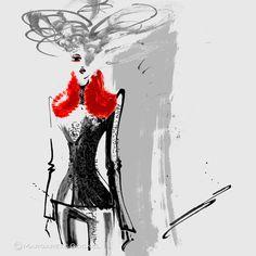 #alexandermcqueen #fw2015 #fashionillustration #illustration #margaretegockel #sketch #ink #inkdrawing