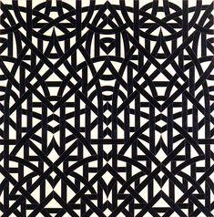 oil on canvas,Valérie Jaudon, pattern painting, Fue una corriente que nace de un grupo de artistas californianas opuestas al minimalismo, que usaron técnicas artesanales de naturaleza «femenina», surgido en California en 1975, en cierto sentido tuvo como precursor el llamado arte feminista, realizado por mujeres y teniendo como tema la condición femenina, que surge a finales de la década de los sesenta, en paralelo con el movimiento Women's Lib.