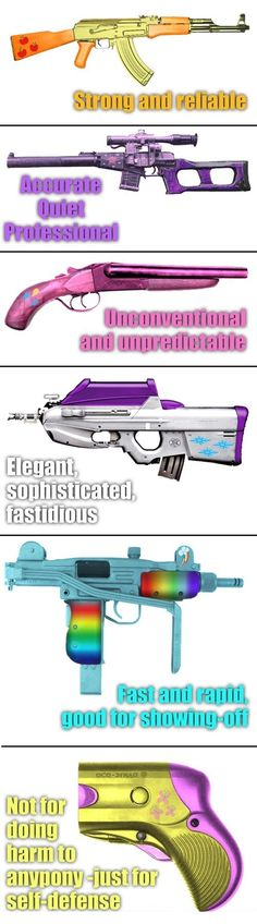Mane Six Weapons