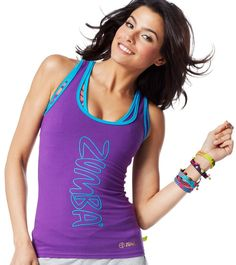 ZUMBA FITNESS DANCE RACERBACK TOP SHIRT from Convention London~Harrods S fc957bc394c