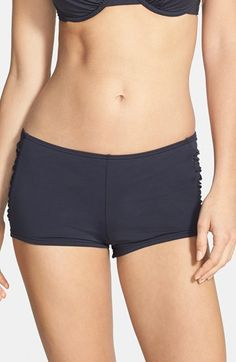 Free shipping and returns on Tommy Bahama 'Pearl' Shirred Swim Shorts at Nordstrom.com. Swim shorts offer great coverage and a flattering fit with a higher rise, side shirring and a full-cut back. Made from a smooth Italian microfiber knit, these bottoms maintain their shape, resist fading and provide you with UPF 50+ sun protection.