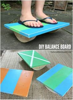 30 DIY Rustic Wooden Toys Kids Will Love #diy #rustic #toys Wood Projects For Kids, Kids Wood, Fun Projects, Cool Diy, Fun Diy, Rustic Toys, Balance Board, Homemade Toys, Toy Craft
