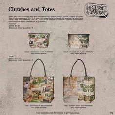 Tim Holtz - District Market Clutches & Totes - cha summer 2012