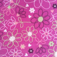 Micro Fleece Fabric-Floral Scribble, , hi-res