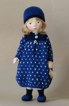 Girl in Royal Blue H343 by Elisabeth Pongratz -WOOD!!!