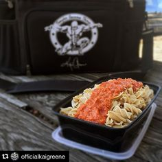 "Pasta isn't just a cheat meal anymore.  #Repost @officialkaigreene with @repostapp.  Onto the next meal & very much so looking forward to it! You may not believe it but this portion of #ISOpasta has 120G of protein and only 28G of carbs!!! Still don't know how they were able to pack in all that protein! But hey I'm not complaining! Check out the stats ""Link in Bio"" @isolatorfitness by isolatorfitness Go Check Out Our Website For More Isolator Fitness Bags…"