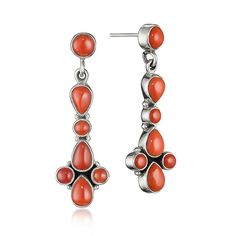 red (!) jade earrings - boucles d'oreilles en jade rouge (!)