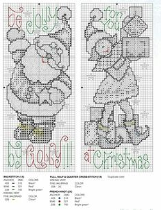 Bookmarks or Bell Pulls Santa Cross Stitch, Cross Stitch Tree, Cross Stitch Bookmarks, Beaded Cross Stitch, Crochet Cross, Counted Cross Stitch Patterns, Cross Stitch Charts, Cross Stitch Designs, Cross Stitch Embroidery