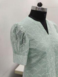 Puff sleeves design is a new look forever. Puff sleeves design is a new look forever.,Sleeves designs Puff sleeves design is a new look forever. Churidar Neck Designs, Salwar Designs, Kurta Designs Women, Kurti Designs Party Wear, Salwar Neck Patterns, New Kurti Designs, Neck Designs For Suits, Sleeves Designs For Dresses, Dress Neck Designs