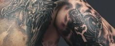 Top 90 Best Armor Tattoo Designs For Men - Walking Fortress Armor Sleeve Tattoo, Armour Tattoo, Shoulder Armor Tattoo, Body Armor Tattoo, Sleeve Tattoos, Cool Cross Tattoos, Cross Tattoo For Men, Cross Tattoo Designs, Tattoo Designs Men