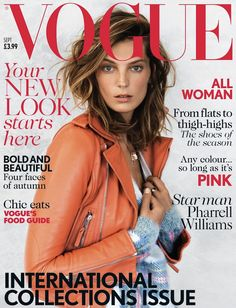 Daria Werbowy Covers British Vogue's September 2013 Issue