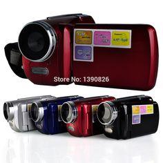Free Shipping 12MP 720P  Digital Video Camera with 4 x Digital Zoom, 1.8 LCD Screen Mini DV Digital Camcorder
