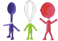 Head chef kids -- cooking tools are a fun and safe way to have your junior chef help out in the kitchen and to encourage playing with the food! These tools are ideal for creating memorable meals together in the kitchen. --  http://www.amazon.com/Head-Chefs-00614-Whisk-Lime/dp/B001DD222M/?tag=oddee-20