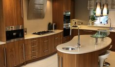 Used Luxury Solid Walnut Kitchen with Gaggenau Appliances - Ex Display Kitchens For Sale Solid Walnut, Integrated Fridge, Small Kitchen, Gaggenau Appliances, Appliances, Kitchen, Walnut Kitchen, Narrow Kitchen, Kitchen Sale