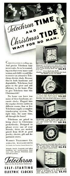 Telechron clocks, 1936.