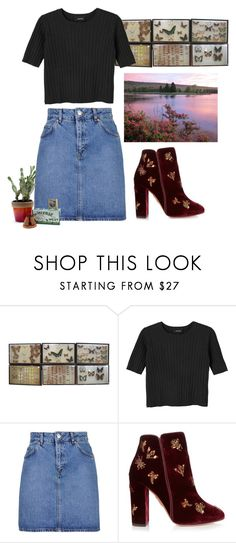 """""""Speechless"""" by iheyhailey ❤ liked on Polyvore featuring Monki, Topshop, Aquazzura and Child Of Wild"""