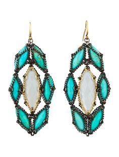 Nak Armstrong Turquoise and Moonstone Earrings